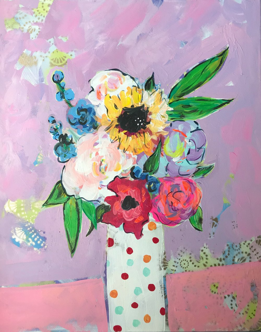 The Shelter of Flowers Collection #6    16in. x 20in.