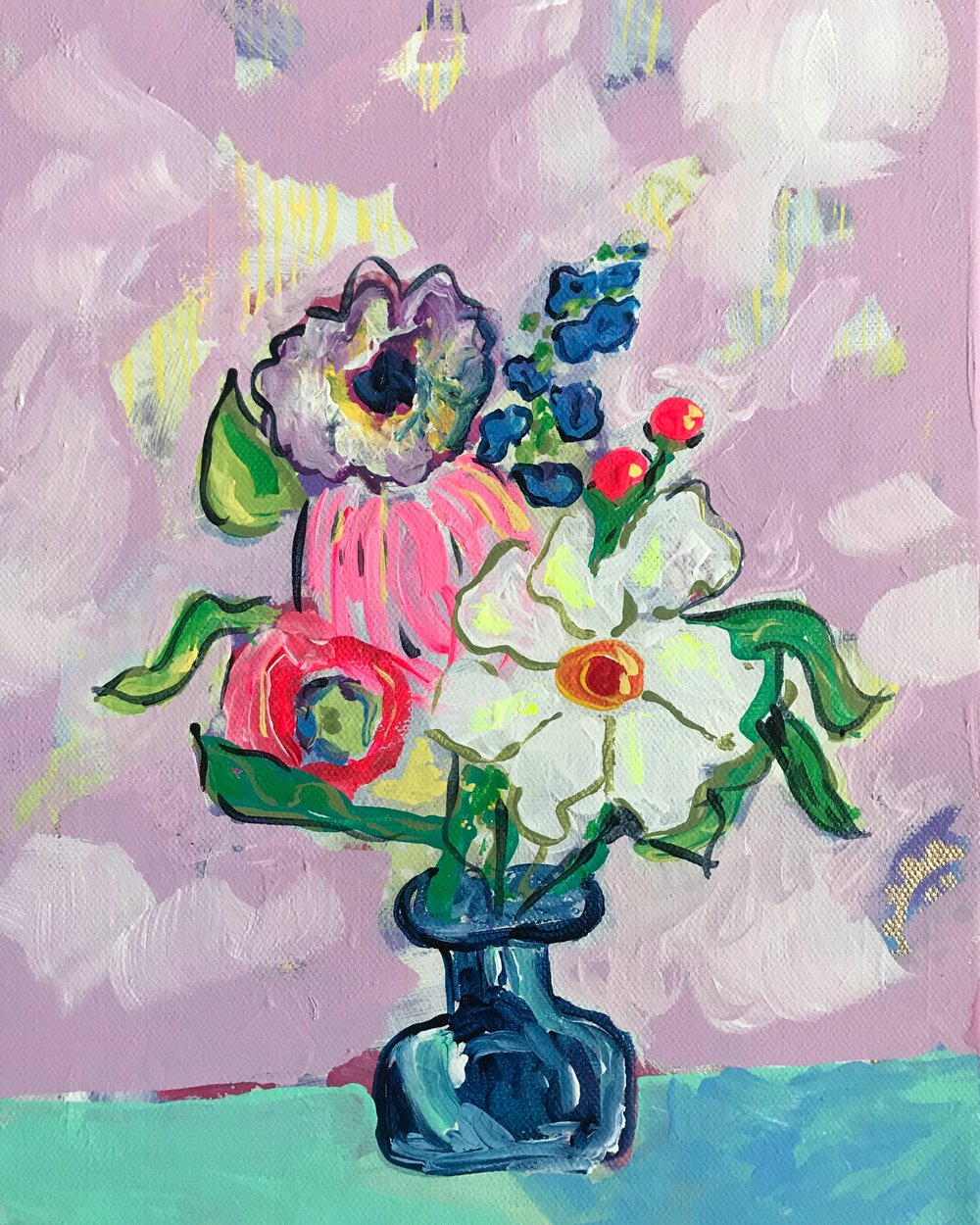 The Shelter of Flowers Collection #5    8in. x 10in.    Available