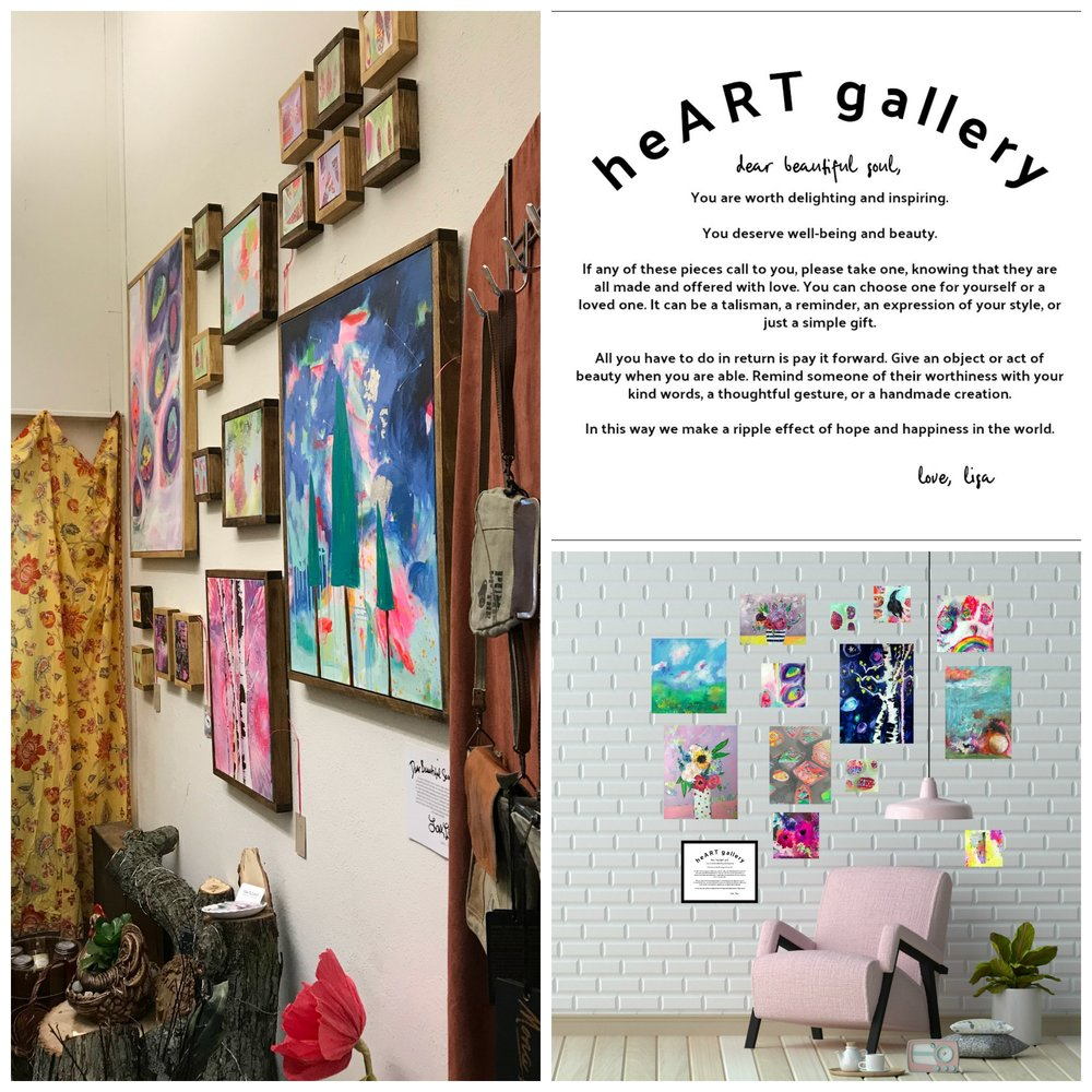 Examples of what a HeART Gallery might look like--we can work with the space you have!