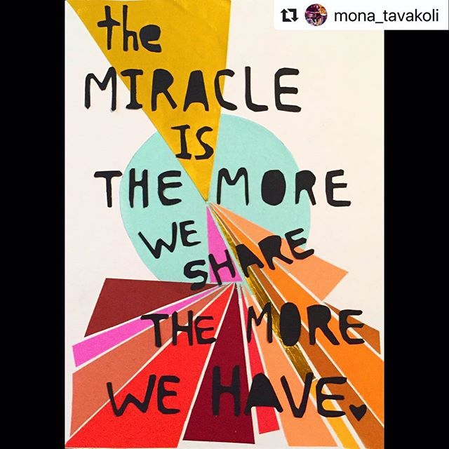 Yes! ❤️ Reposted from @mona_tavakoli!