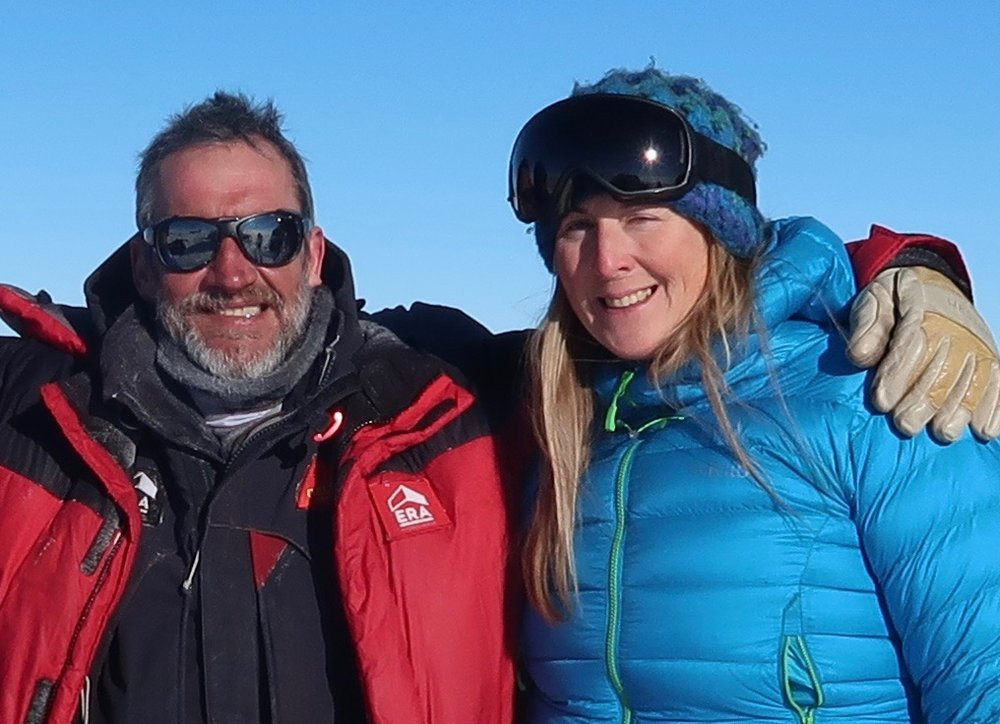 Angelo and Hannah at the South Pole