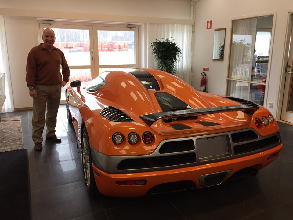 Surprise! While I'm exploring Malmo Bill gets a personal tour Koenigsegg by Christian's wife, set up by someone at BioGaia who has a connection. Amazing experience. Bill's was treated to a personal tour of the factory. No photos allowed but he did get this one. The first car ever made