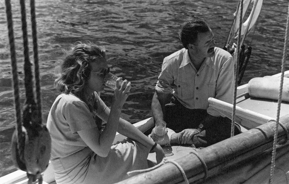 Martha Gellhorn and Ernest Hemingway. Havana Harbor, Cuba