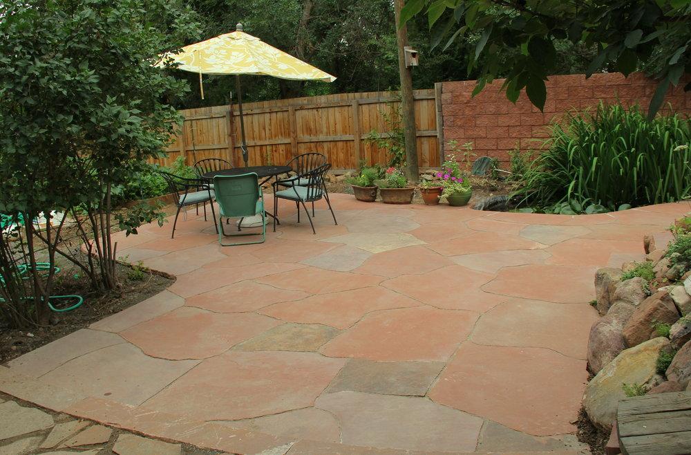 garden flagstones | rock patio designs