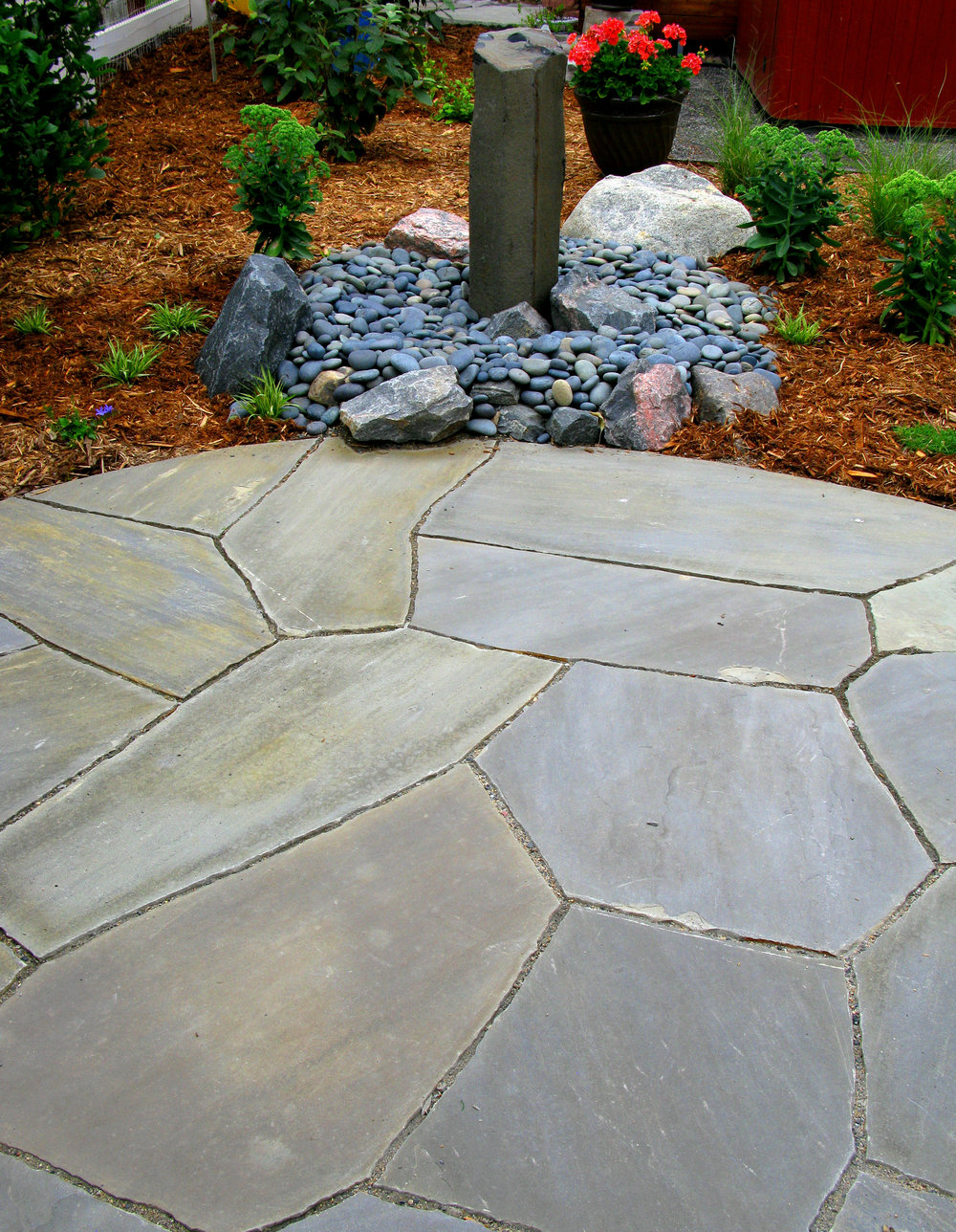 Dry Laid Pennsylvania Blue Patio with Basalt Water Feature.jpg