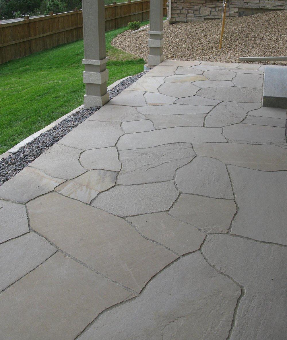 garden paving cost | flagstone entryway