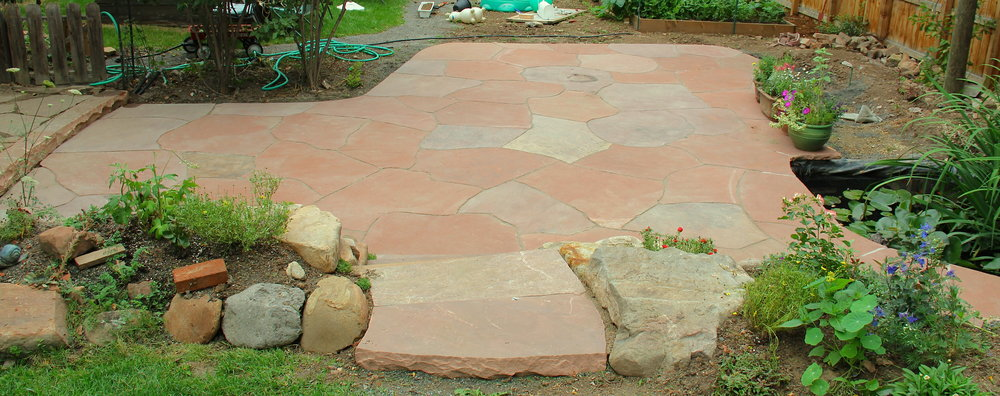 cost of a stone patio | stones for backyard patio
