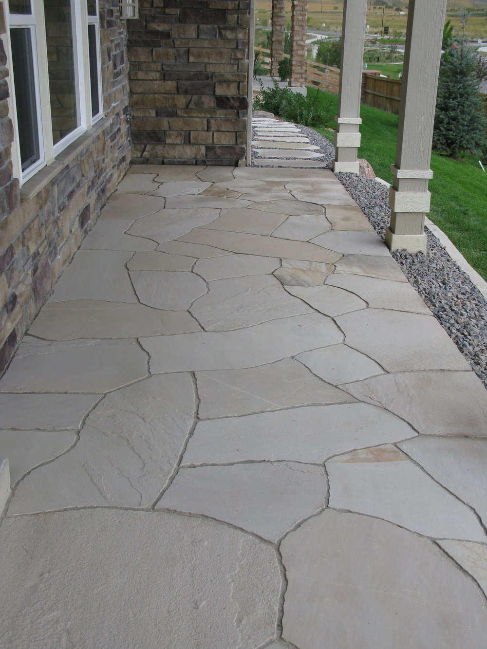 flagstone patio cost | flagstone path
