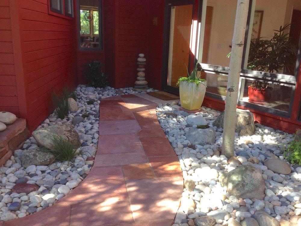 rock pavers patio | flagstone longmont