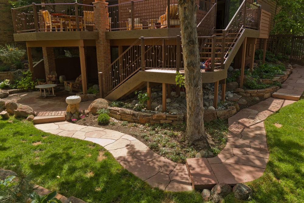 flagstone path | flagstone entryway