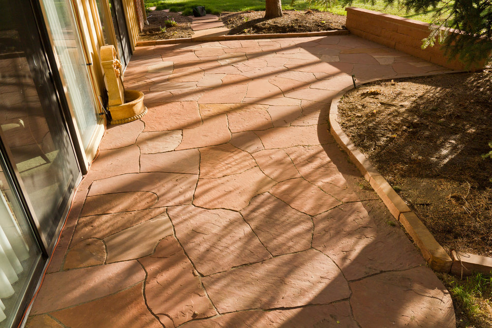 flagstone tile for patio | flat stones for patio