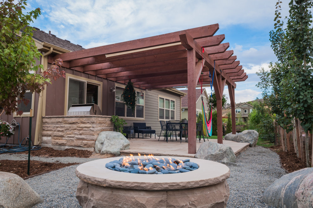 stone fire pit | flagstone fire pit