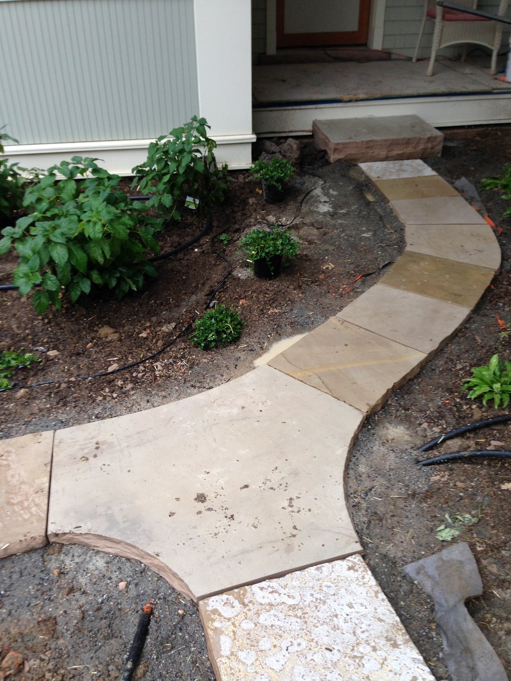 flagstone path | stone steps cost