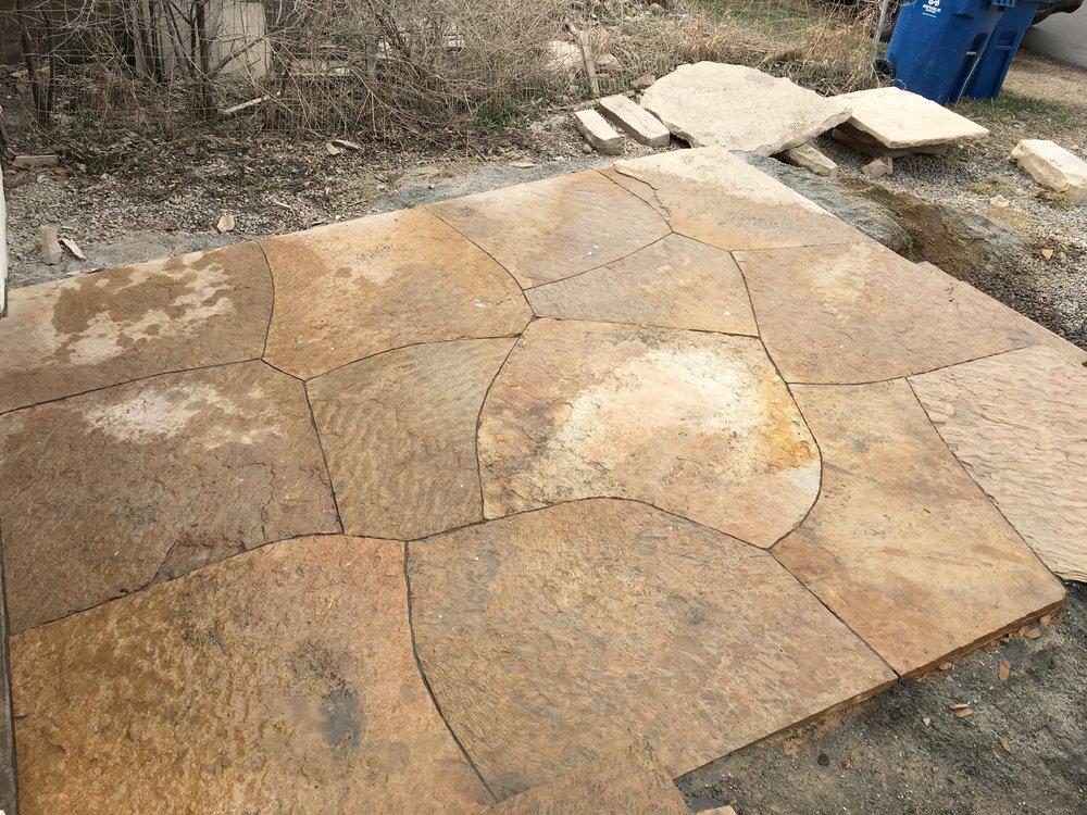 flagstone patio cost | rock pavers patio
