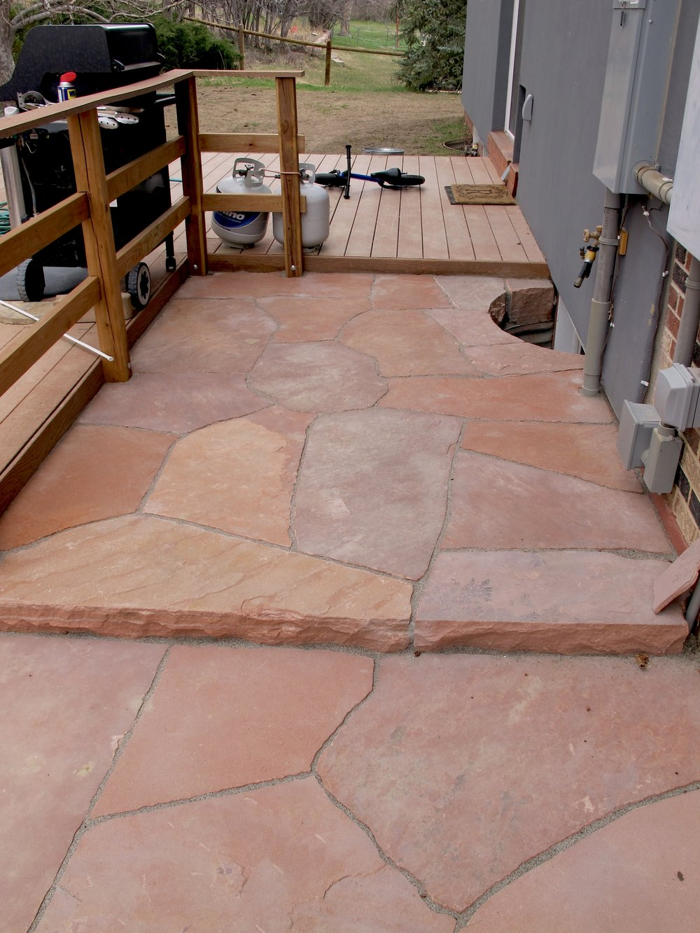 flagstone patio cost | flagstone boulder