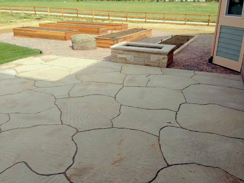 colorado stone longmont | rock patio designs