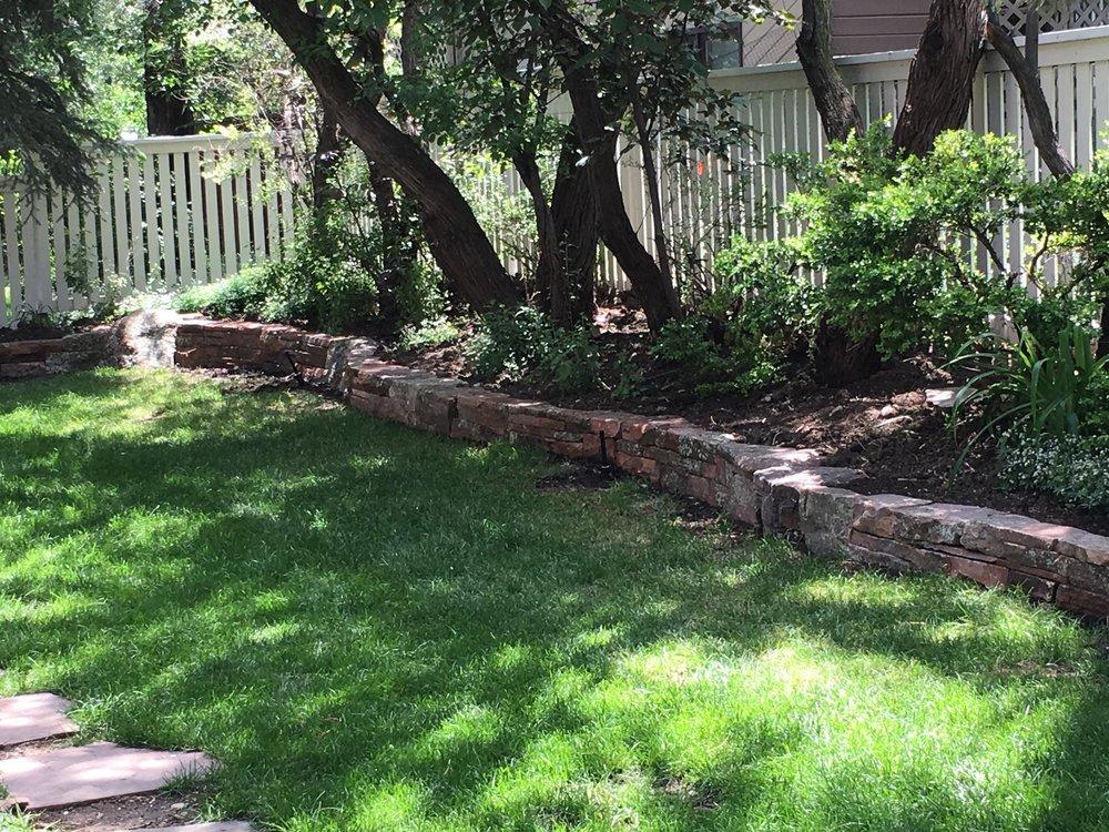 landscape retaining wall | garden paving cost