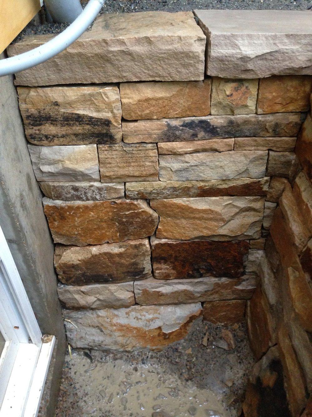 landscape retaining wall | stone masonry