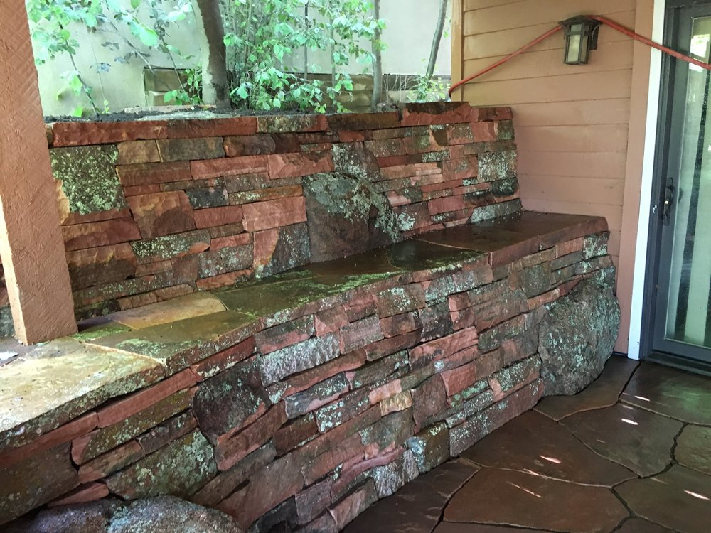 dry stack stone wall | flagstone boulder