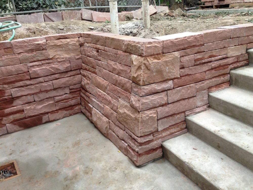 dry stack stone wall | garden paving cost