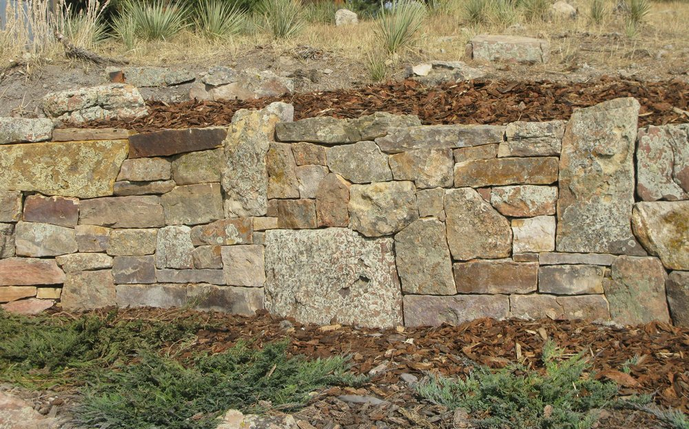 dry stack stone wall | stone masonry