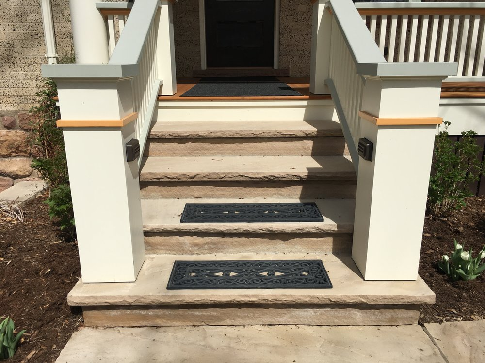 boulder stairs | flagstone stairs