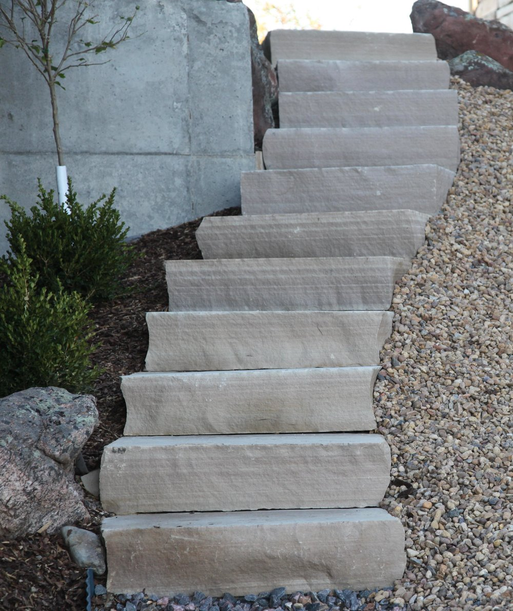 flagstone stairs | stone masonry