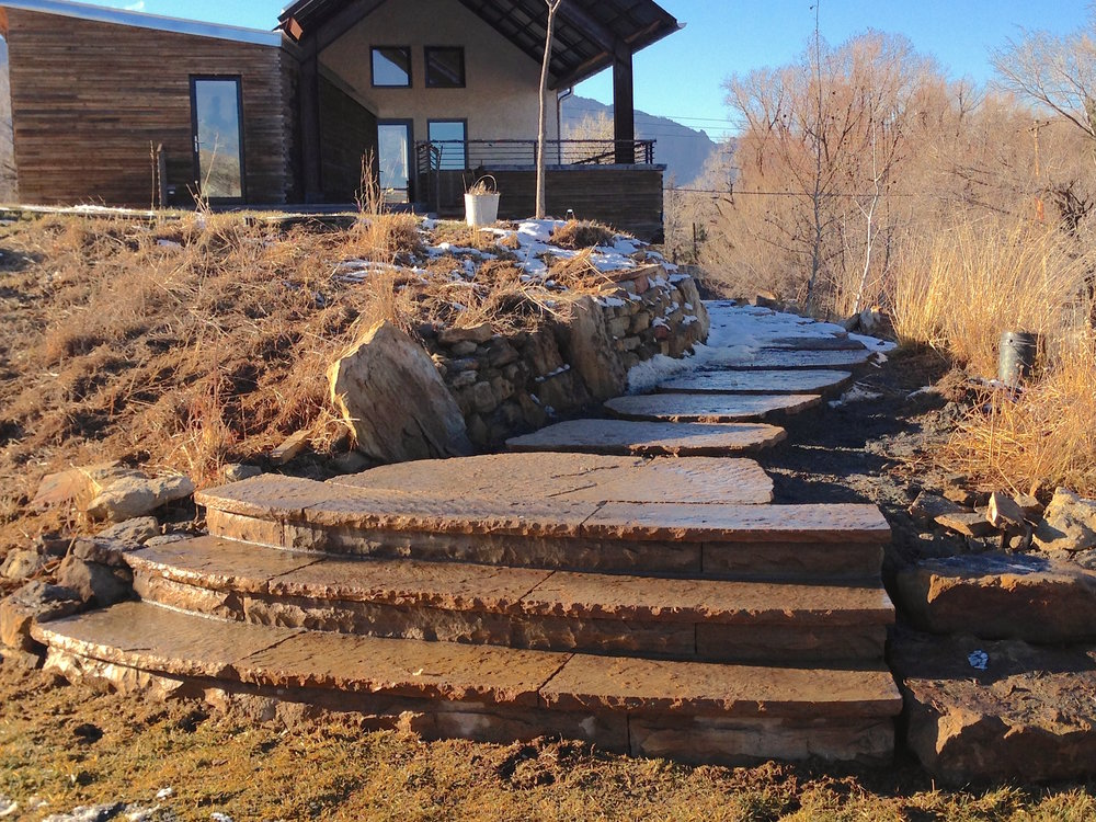 boulder stairs | flagstone longmont