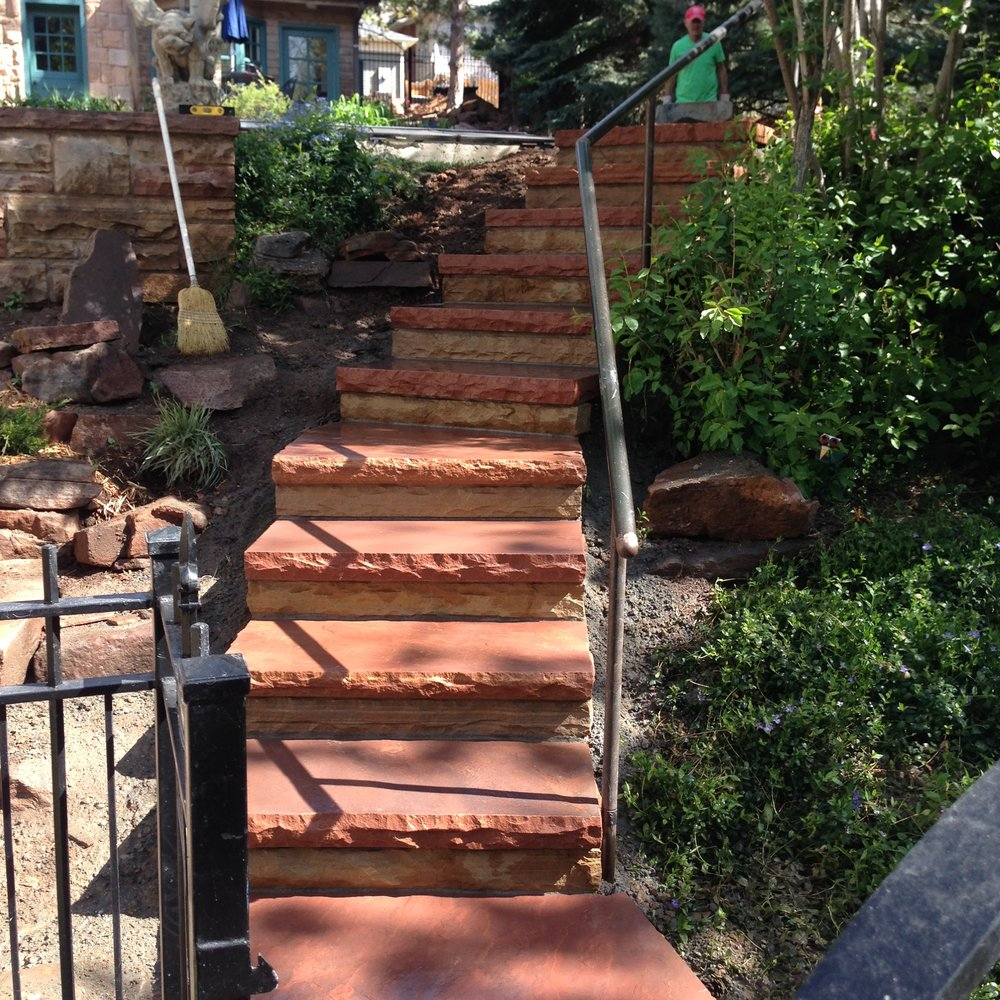 flagstone stairs | garden paving cost