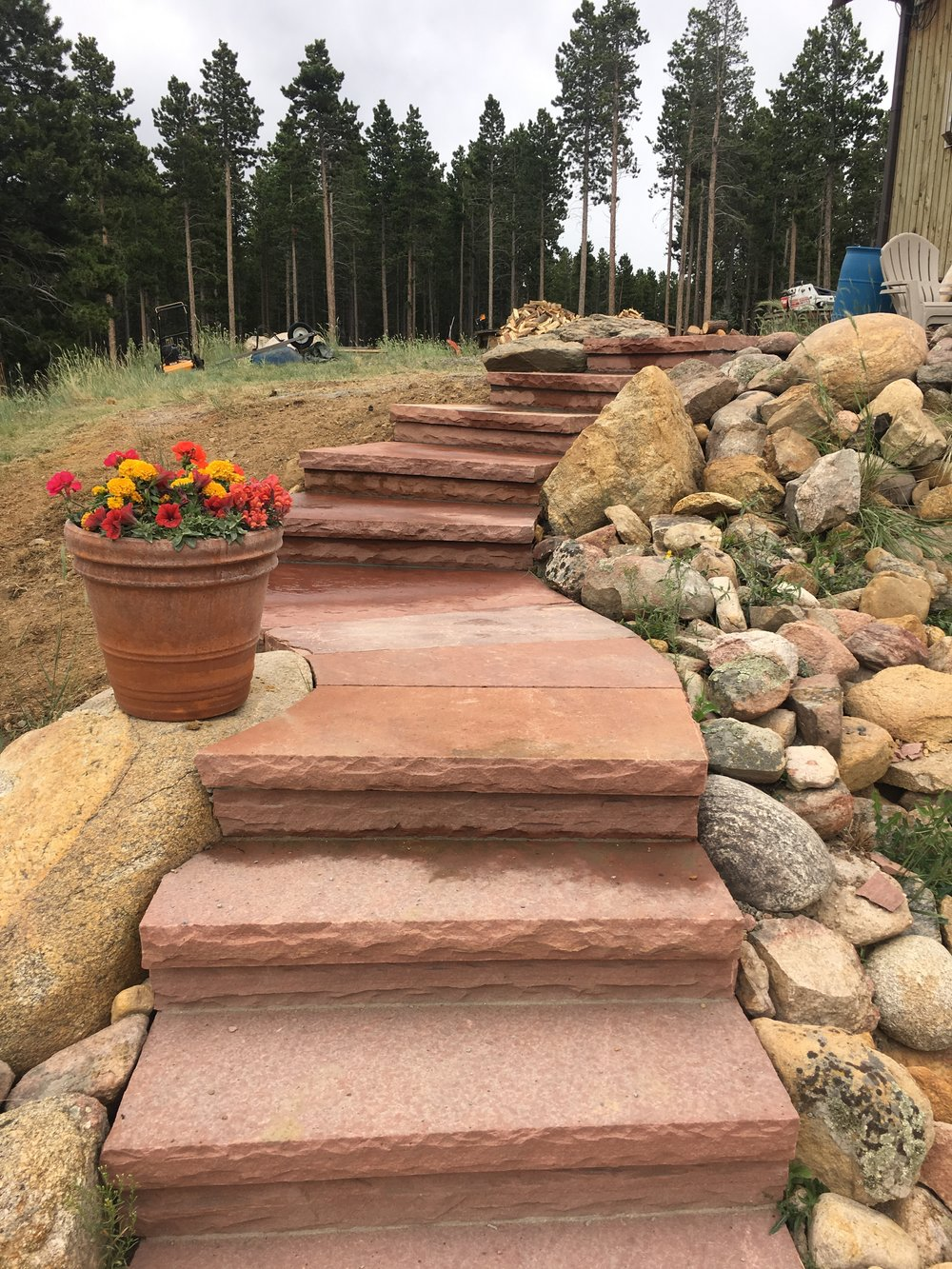 landscape stairs | flagstone longmont