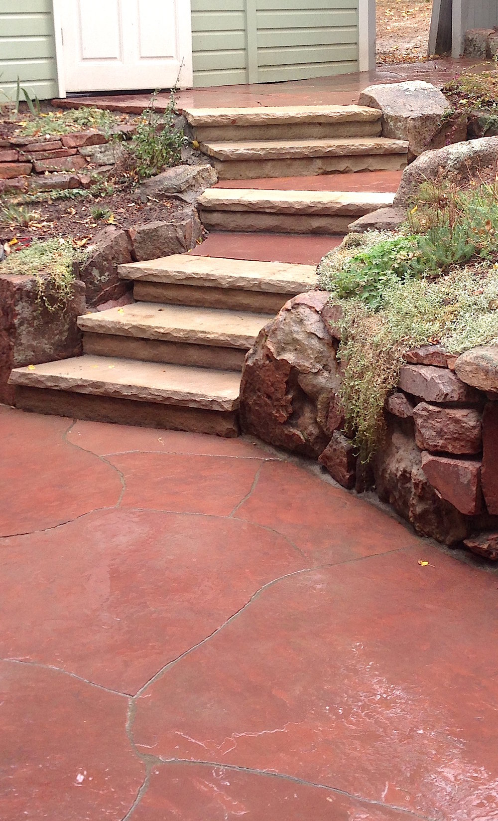 landscape stairs | custom stairs | flagstone stairs