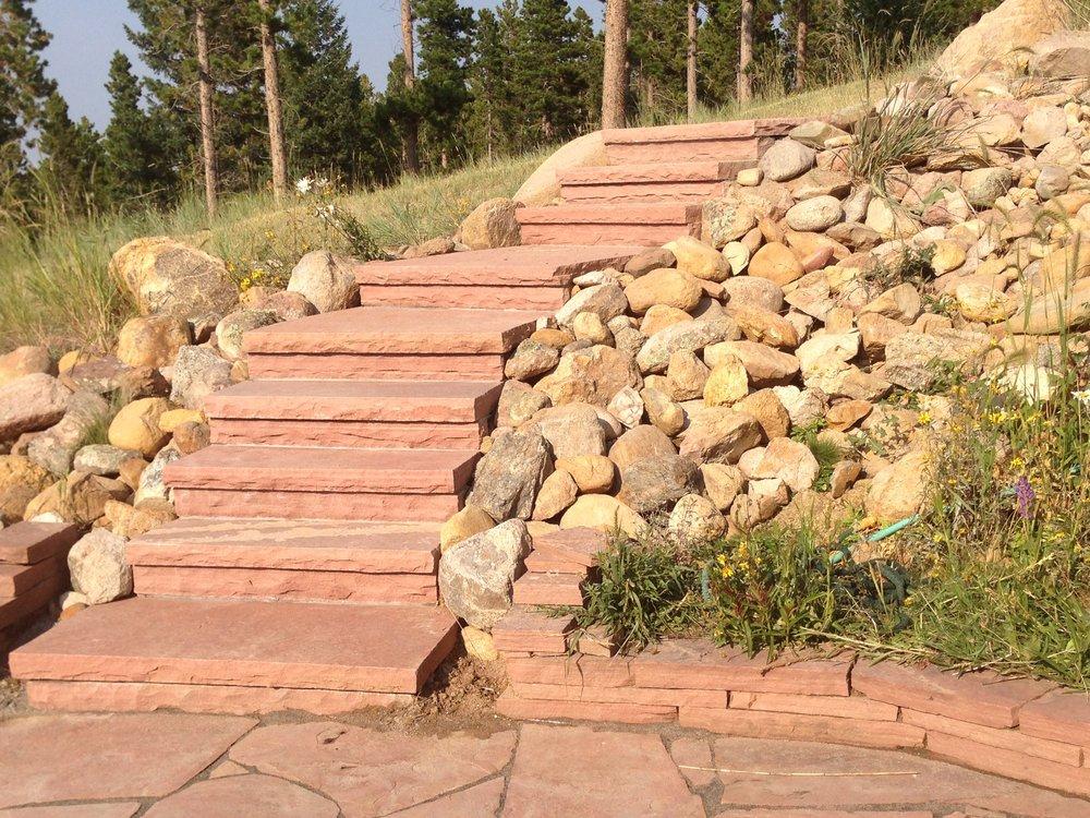 custom stairs | flagstone stairs