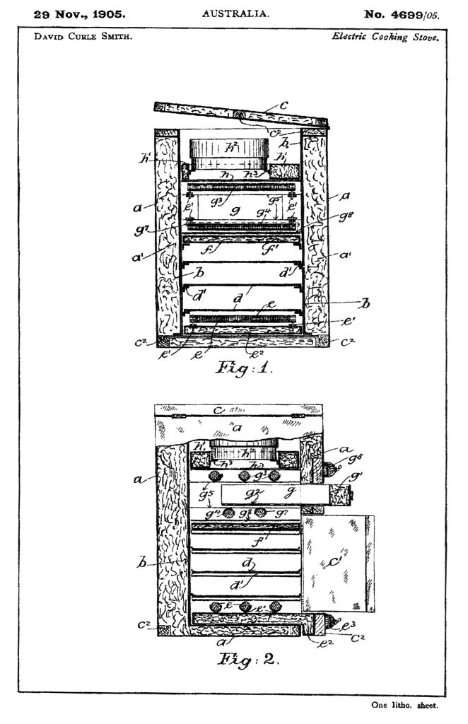 Asbestos was commonly found in home heating devices such as chimneys, flues, and wood burning stoves. References to asbestos are absent in the above stove patent, but patents for similar stoves may indicate the presence of asbestos. Source: Wikimedia Commons