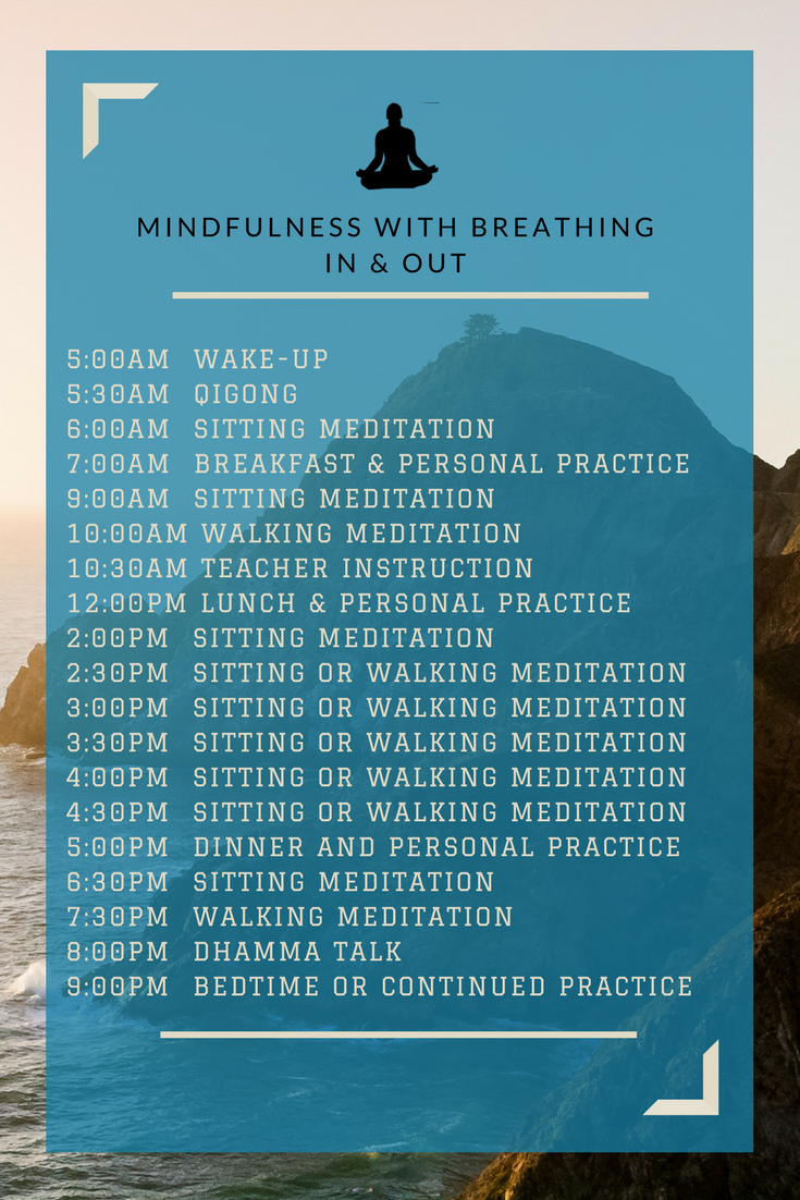 Meditation Retreat Schedule - Anxiety Therapy/Counseling