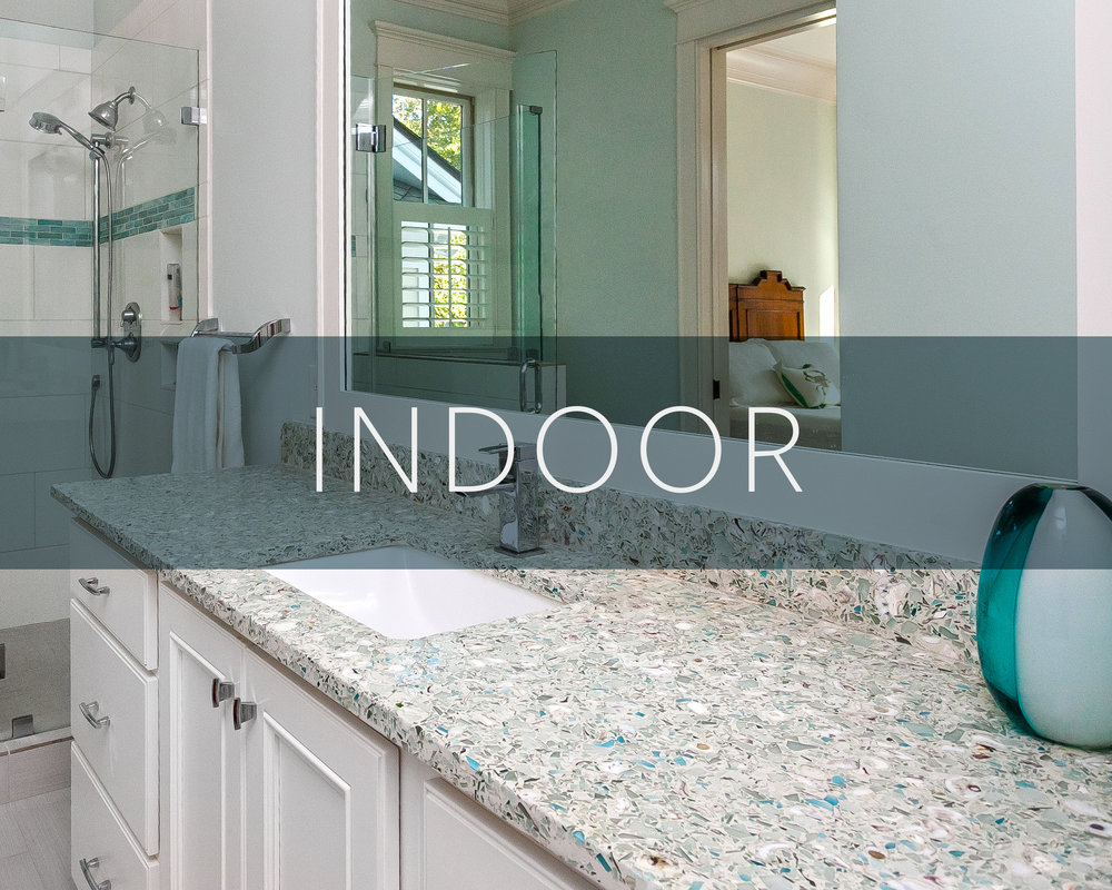 Recycled Glass Surfaces for Interiors in Charleston, SC