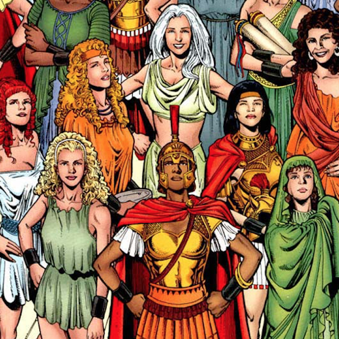 The Amazons of Themyscira