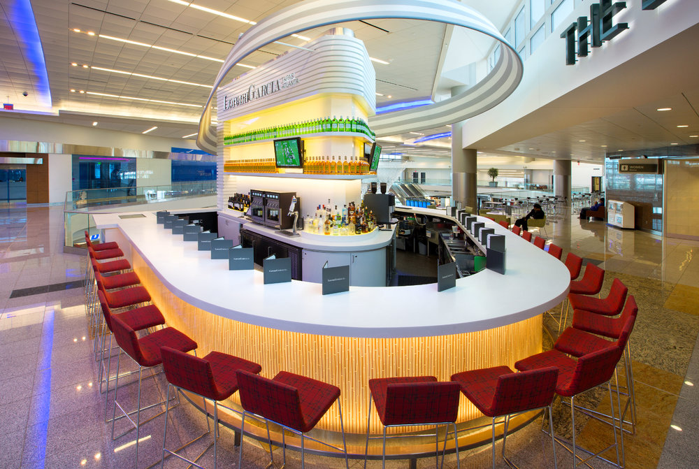 Lorena Garcia Tapas. Atlanta      Atlanta International Airport.     Concourse F Mezzanine in the International terminal      .