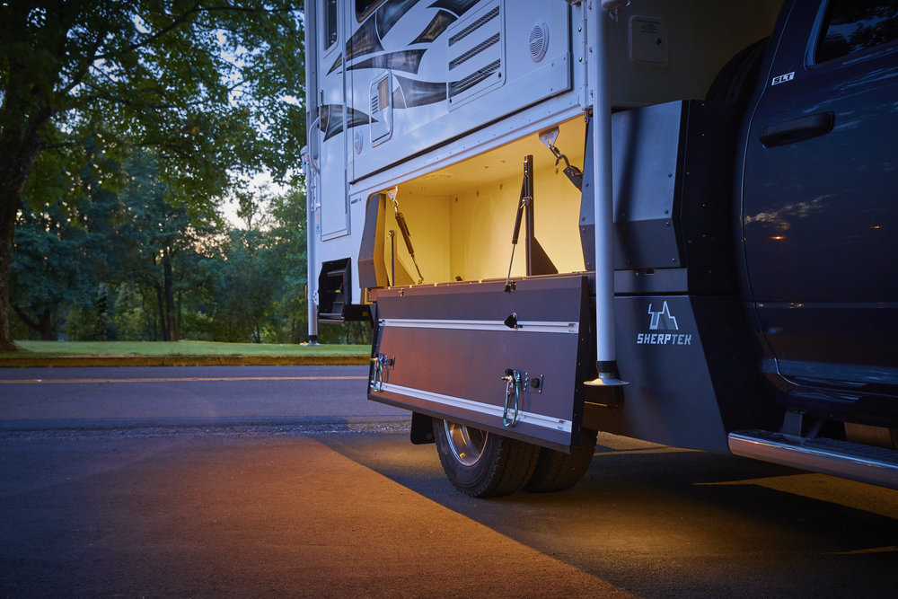 HOST Mammoth truck camper with Ram 4500 chassis cab with SherpTek truck bed