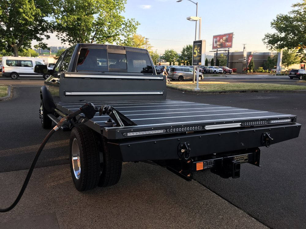 Ram 4500 chassis cab with SherpTek truck bed