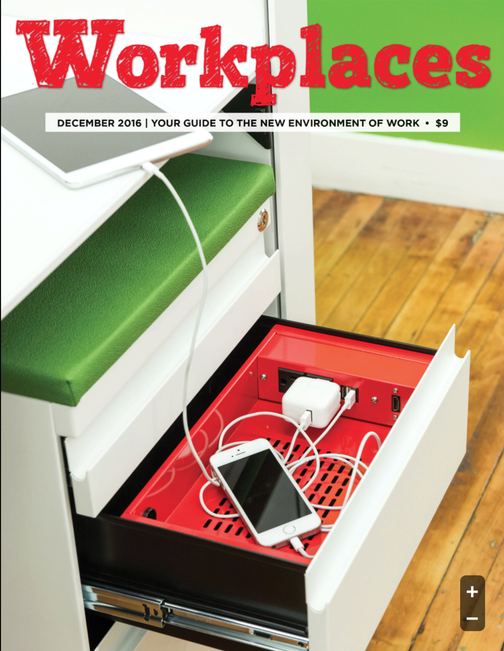 Slyde Ped Featured On the Cover of Workplaces Magazine
