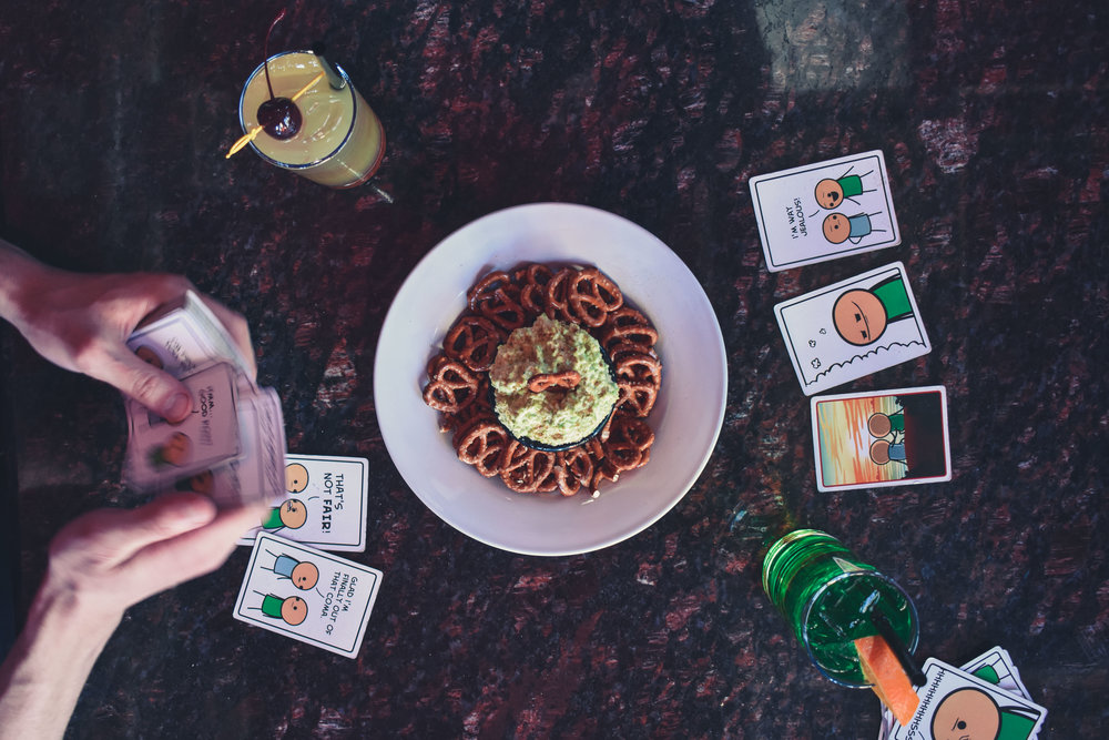 Boardgames meet lifesaver-infused vodkas at Rook & Rogue.  All available at special prices during Happy Hour Thursdays!