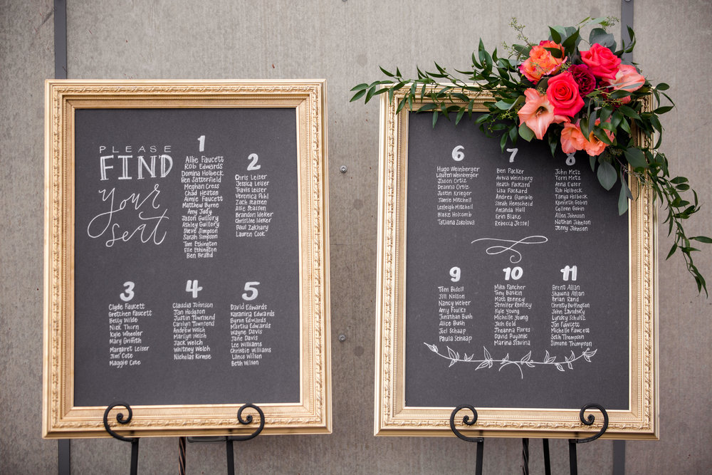 Hand Lettered Seating Charts