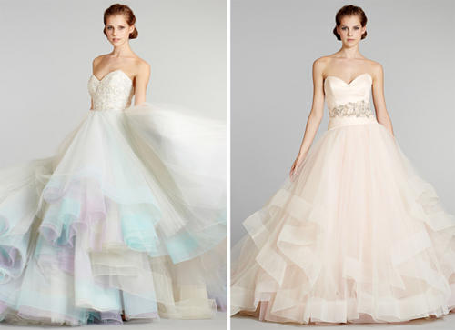 Lazaro Dress available in light pink or the rainbow array.