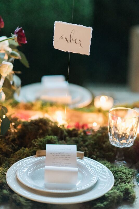 scroll menu and hanging escort card