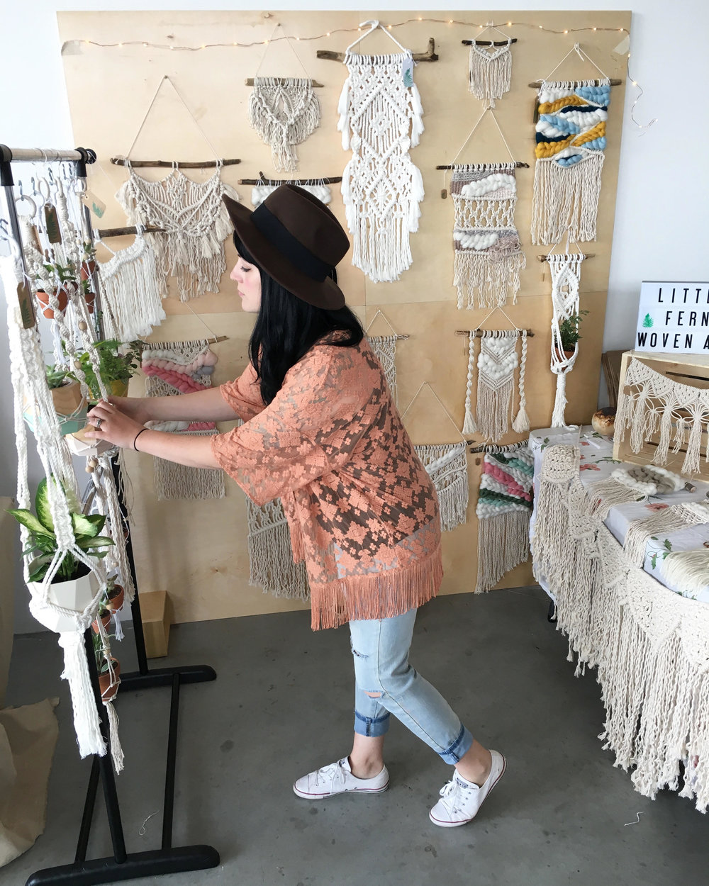 Fern Weft - We are so excited to have Tawnee of Fern Weft BACK with us to do a DIY Macrame Workshop on our main stage! Spaces is VERY limited (and the class is FREE) so be sure to get here early so you don't miss out! You'll be going home with your very own macrame art piece and a whole lot more weaving knowledge!