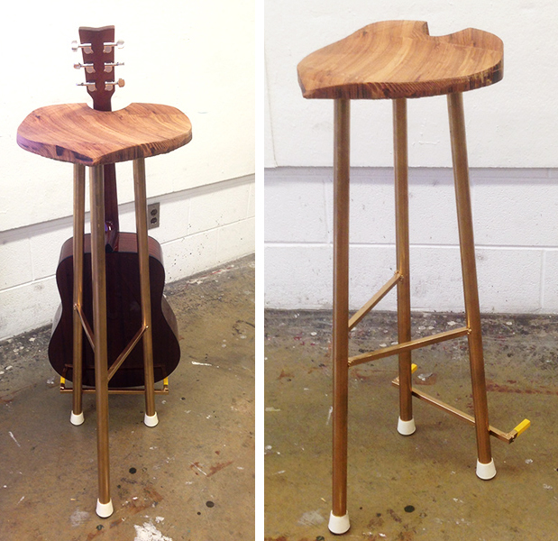 Guitar Stool Product design Fabrication