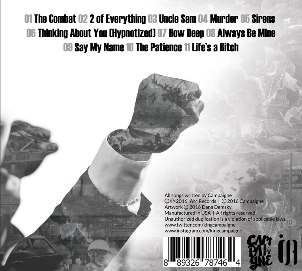 Back cover of physical CD