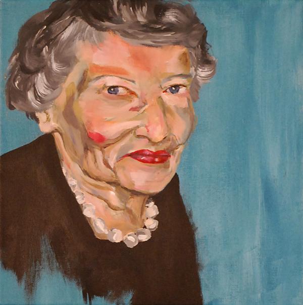 My Nana , acrylic paint