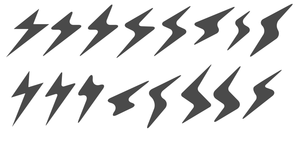 "Sirona Logo - Starting with an ""s"" like lightning bolt that represents strength and speed of athletes, I manipulated the shape until I molded a form that I felt could represent Sirona."