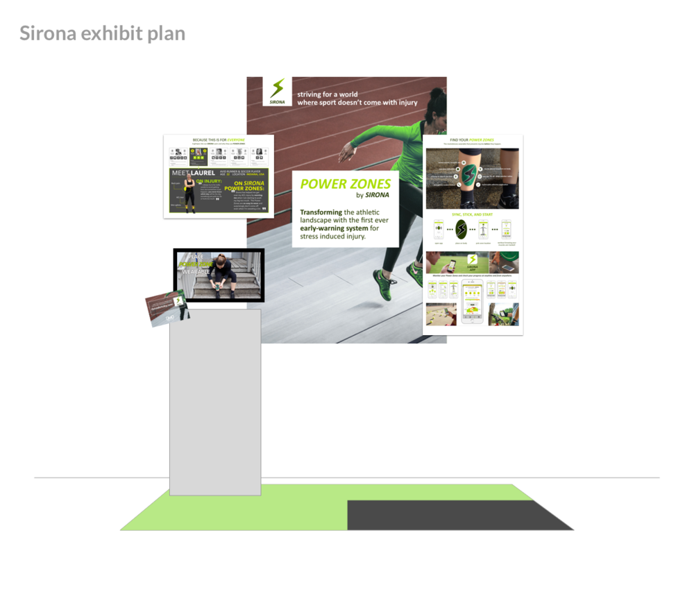 My trade show mocked up digitally with the poster layouts.